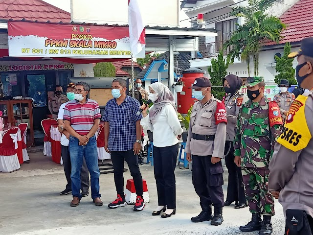 Jelang Kunjungan Panglima TNI dan Kapolri, Danramil 1016-01 Tinjau Pelaksanaan Gladi