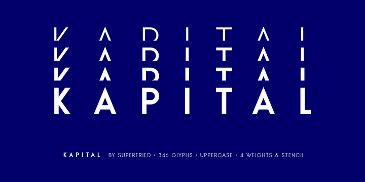 Download KAPITAL Font Family From Superfried