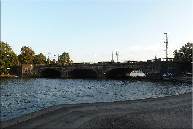 Puente Lombardsbrücke - Hamburgo