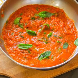Basic Tomato Sauce from Fresh San Marzano.