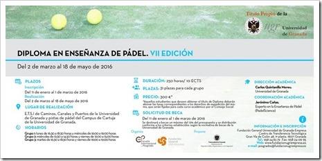 """""""Diploma en Enseñanza de Pádel¨ (7º edición), teoría y práctica equivalente al Curso de monitor y entrenador de pádel"""
