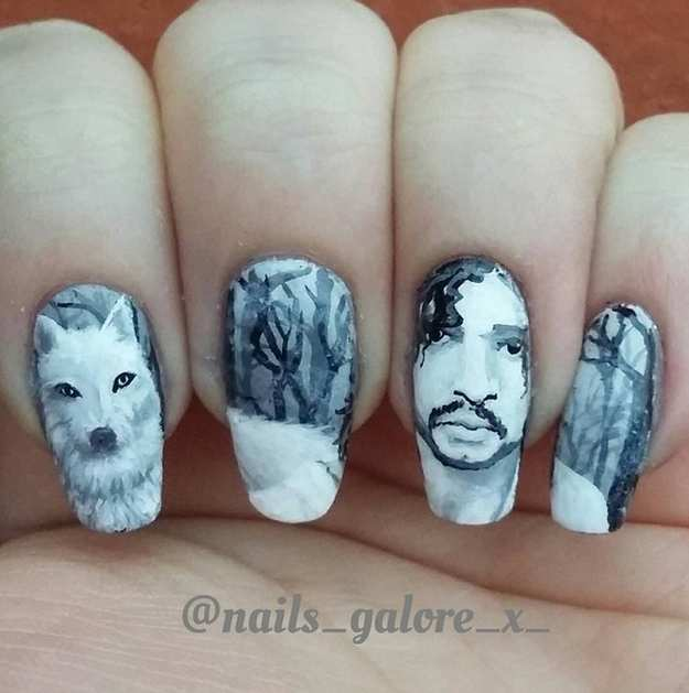 Top 50 Amazing Snow Nail Art Designs For Winter Fashonails