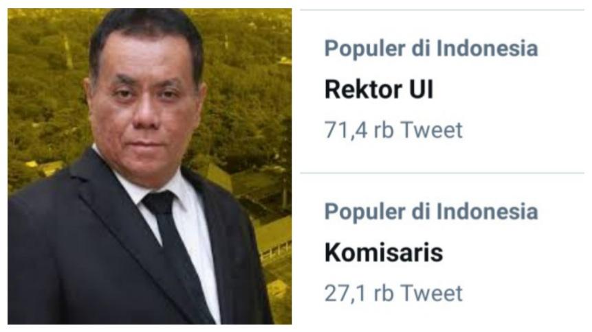 Pasca Statuta UI Diubah, #RektorUISakti Trending, Diolok-olok Warganet