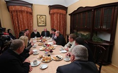Vladimir Putin. Meeting with Novgorod fishermen.