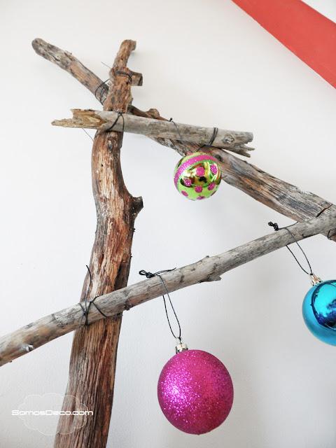Cómo hacer un Árbol de Navidad original con ramas.