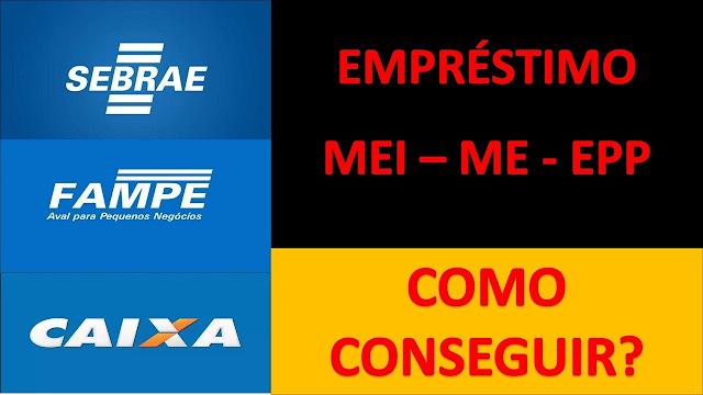 Banner com anúncios de várias empresas sobre empréstimo MEI