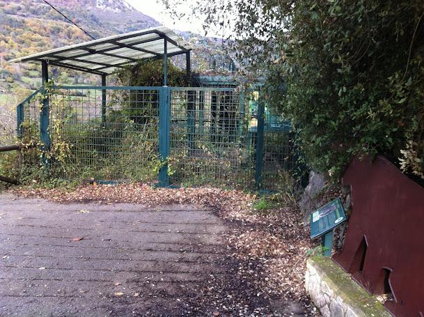 Estado de abandono del antiguo cercado