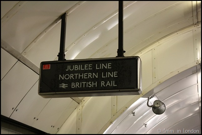 Vintage British Rail Signage in Charing Cross Station