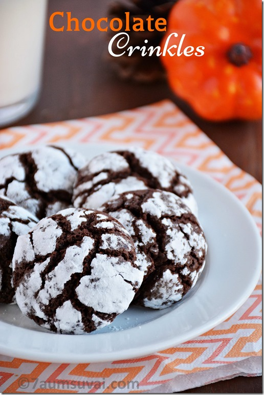 Chocolate Crinkles Chocolate Crinkles Cookies Halloween