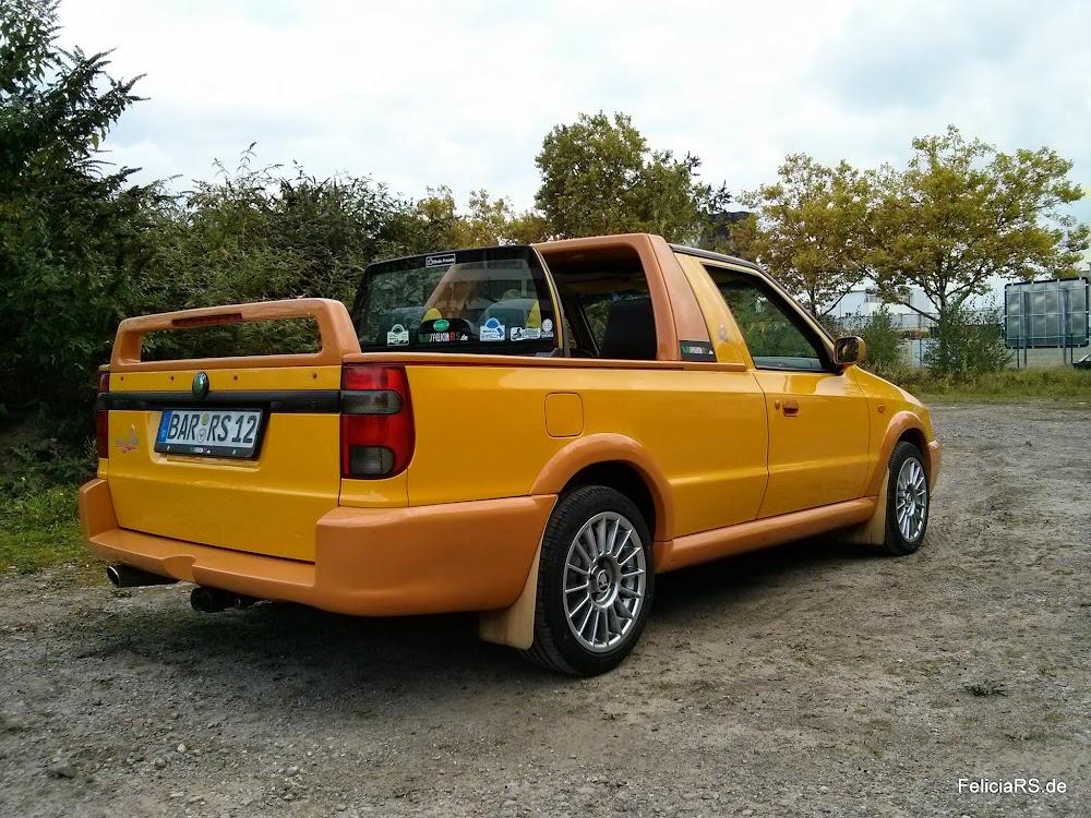 Noch ein paar Bilder bei Tageslicht Alutec Zero Felgen mit Maxxis Pro R1 195/50 R15 86V Škoda Felicia FUN