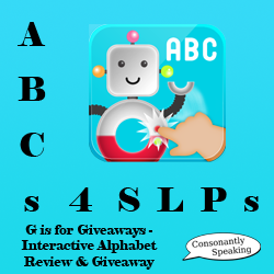 ABCs 4 SLPs: G is for Giveaways - Interactive Alphabet Review and Giveaway image