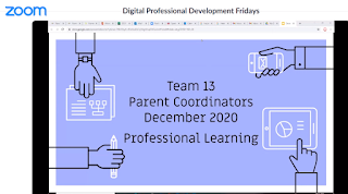 Slide saying: Parent Coordinators Professional Learning 2020