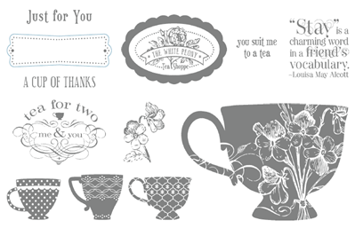 Tea Shoppe Stampin Up Set