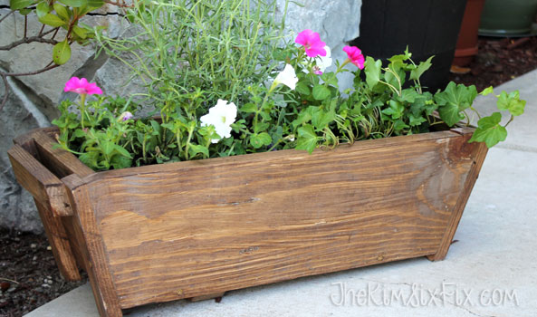 Tapered wooden window box