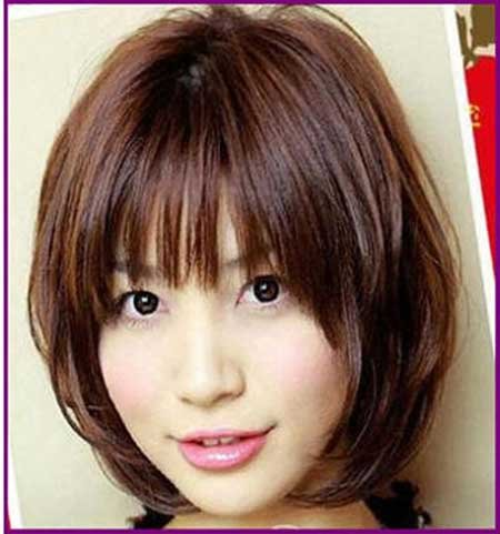 Short Layered Bob Hairdo for Girls: