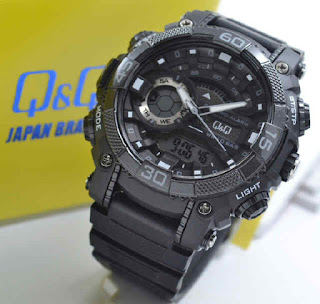 jam tangan Q&Q GW81J004Y double time black rubber white