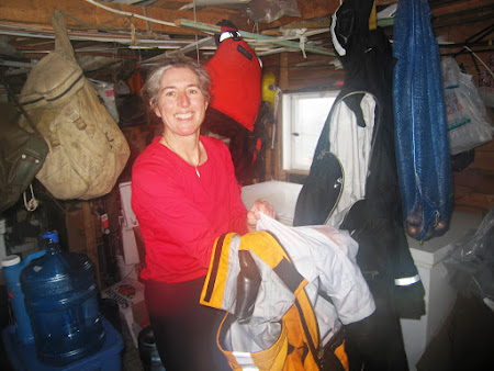 41 stripping the drysuits for a hosted hot cup of tea