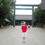 matt at the Yasukuni shrine in Chiyoda, Tokyo, Japan