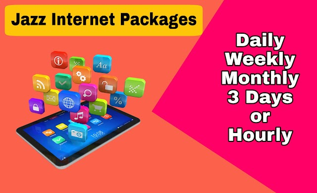 Jazz Internet Packages - Daily, Weekly or Monthly Internet Packages