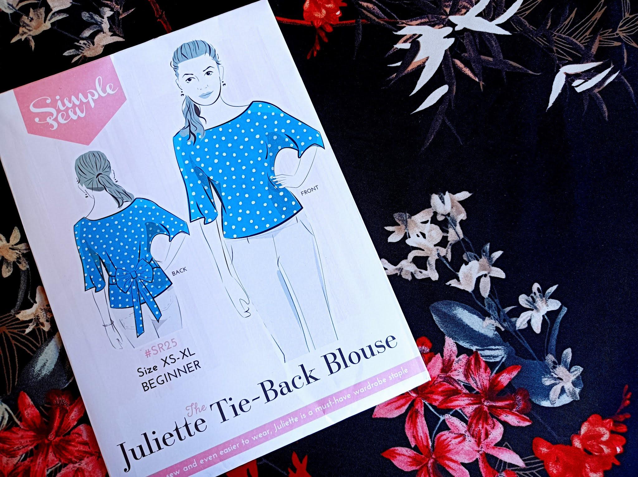 Simple Sew Juliette Tie-Back Blouse pattern review