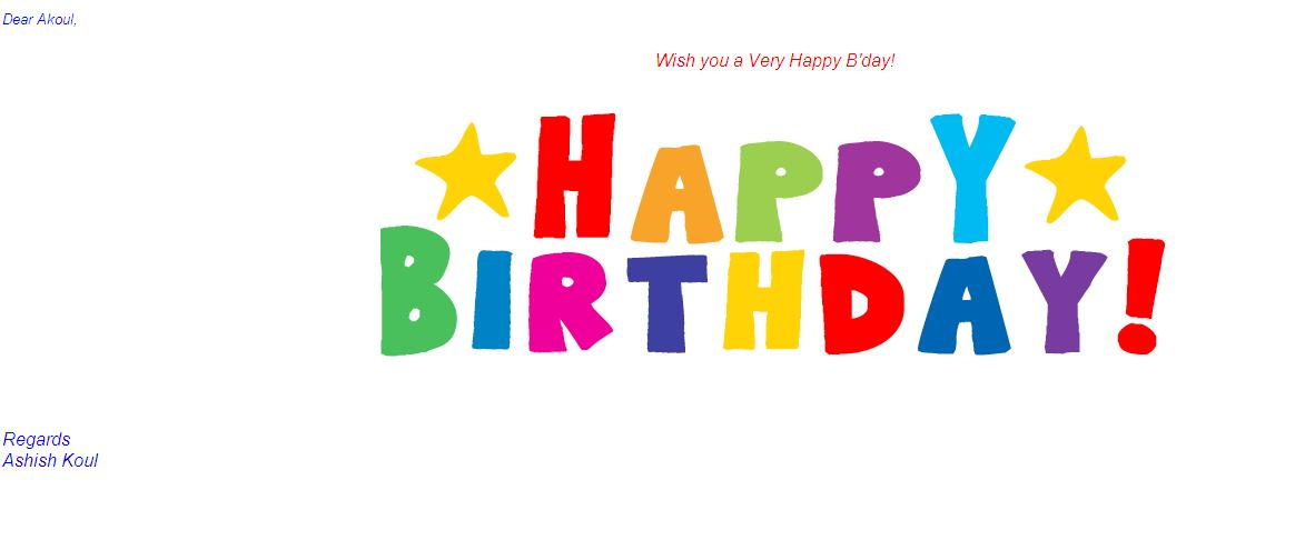 And You Would Like To Send Them Bday Greetings Snapshot Below