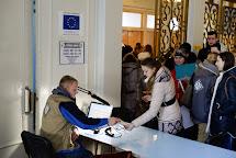 Poskytování potravinových poukázek. Kramatorsk, Ukrajina. Foto: Roman Lunin, Člověk v tísni