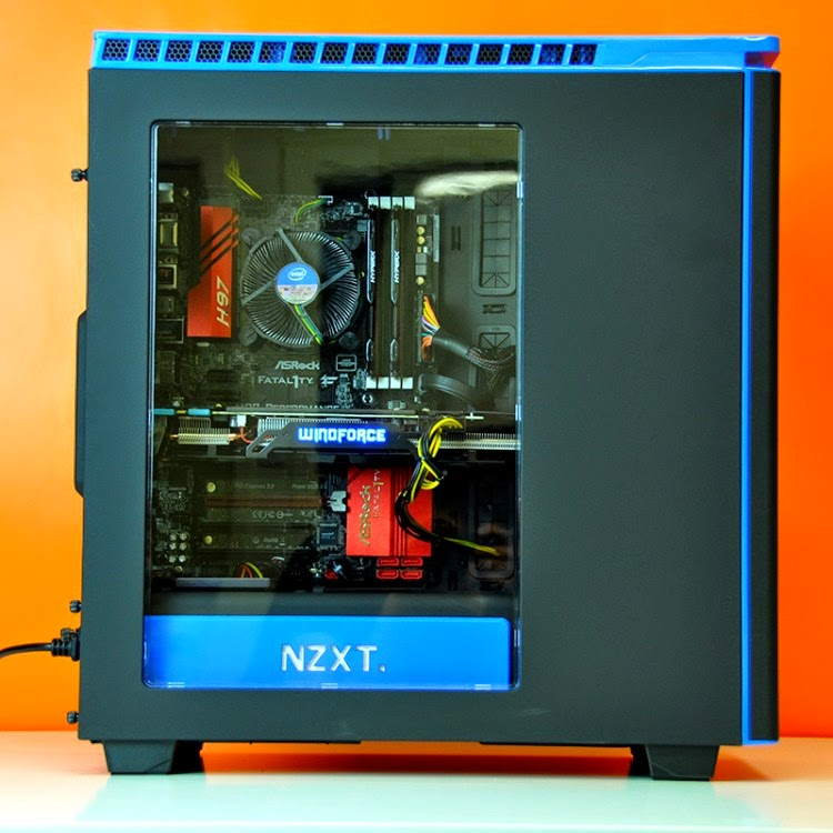 Intel Ultimate Custom Gaming PC trong NZXT Phantom 440 Đen – Xanh - 62971