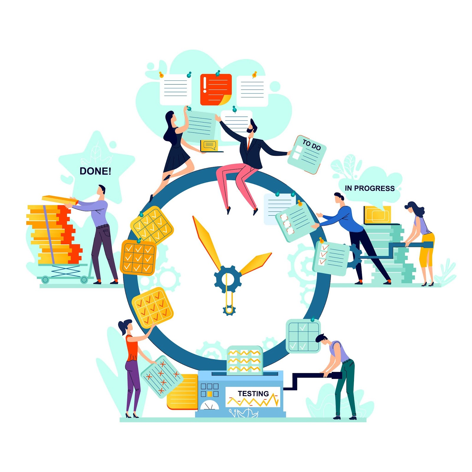 Deadline Time Management Business Concept Vector	 Free Download Vector CDR, AI, EPS and PNG Formats