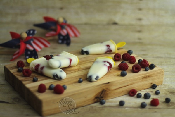 Summer patriotic popsicles