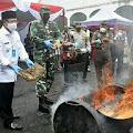 Plt Bupati H Herman Suherman Hadiri Pemusnahan Barang Bukti Narkoba dan Obat Terlarang di Kejaksaan Negeri Cianjur