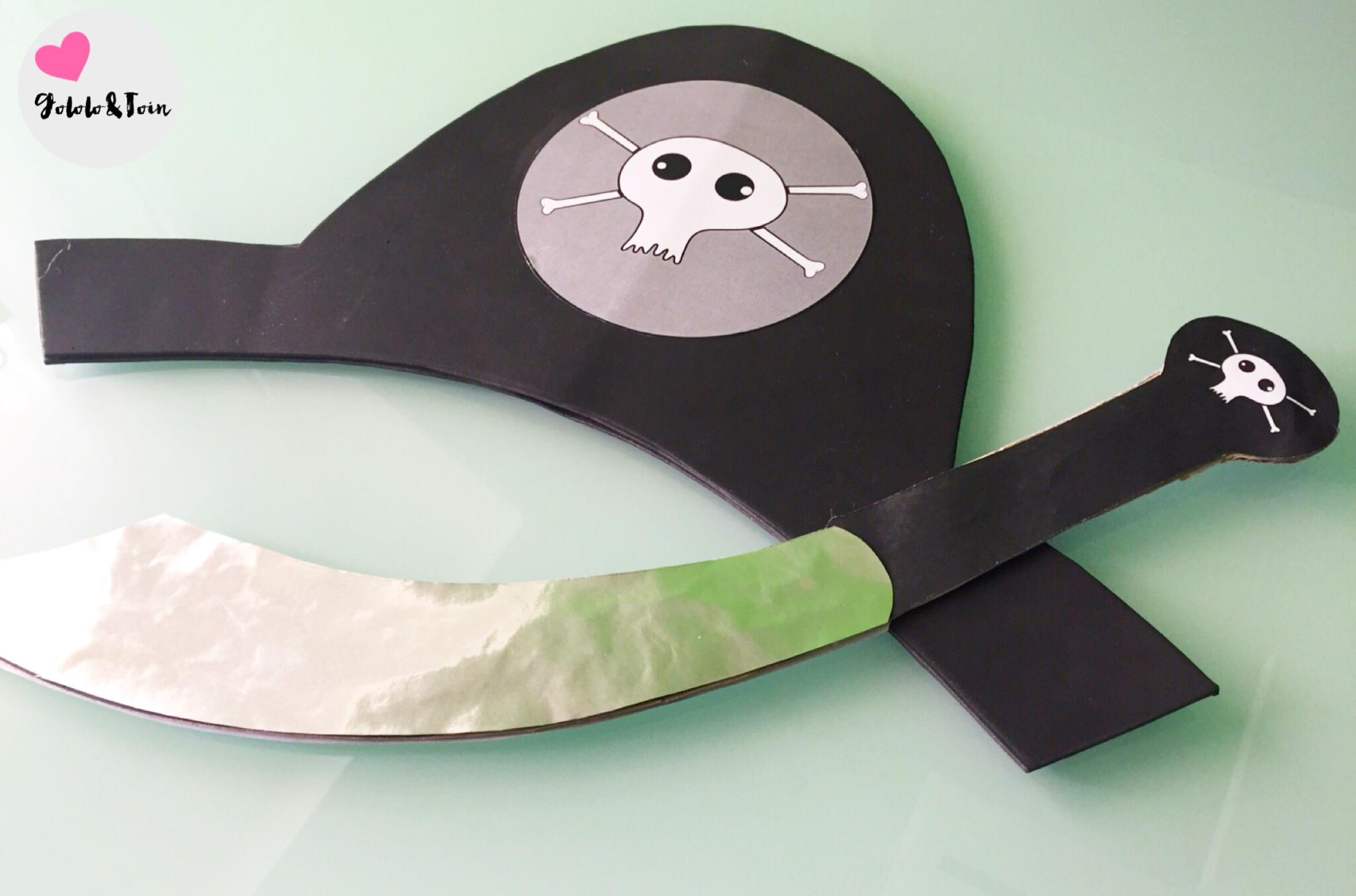Cómo hacer un sombrero y espada piratas   Gololo y Toin: blog de ...