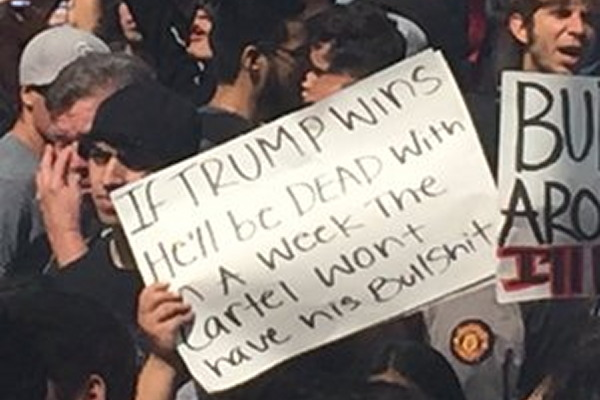 Death threats and taunts for Donald Trump in San Diego