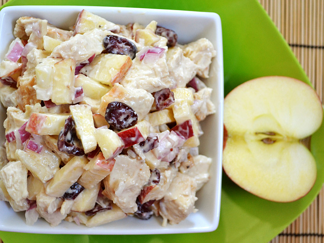 Chicken and Apple salad - BudgetBytes.com