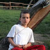 Mateusz - jeden z najmłodszych uczestników.