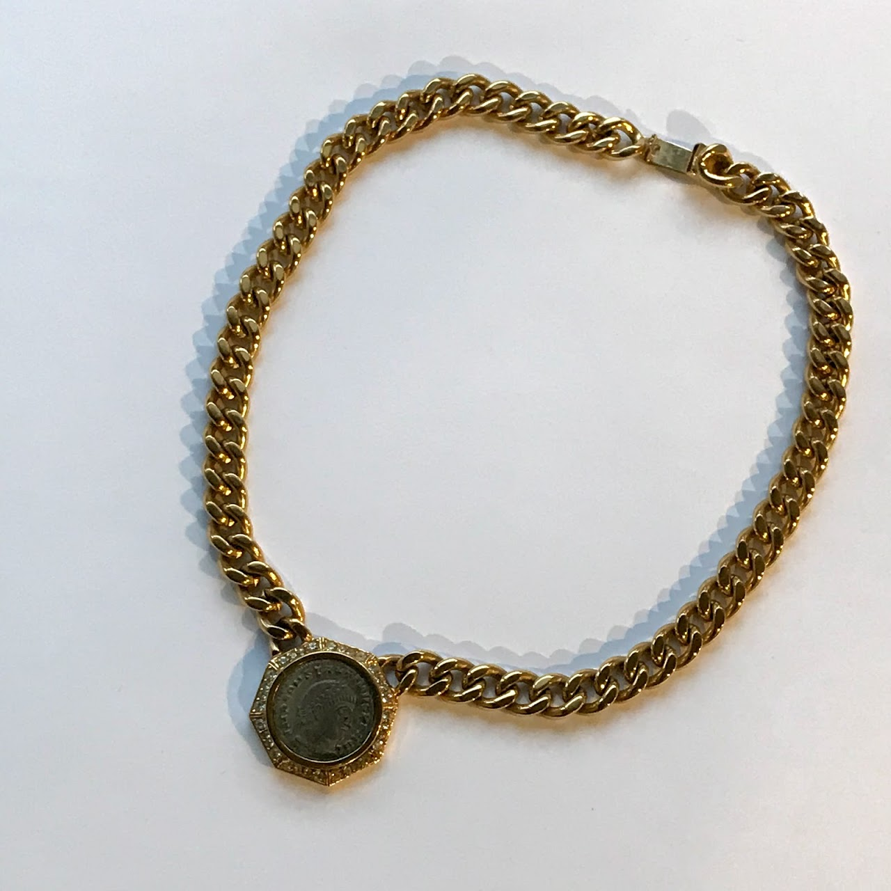 roman a bracelet colt bye with motif coin in guns charm twin intaglio luxe necklace products les gun glamorous gold revoir filles interlocking medallion biddy au fob featuring