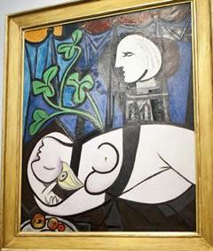 Pabla Picassa - Akt, zielone liście i popiersie