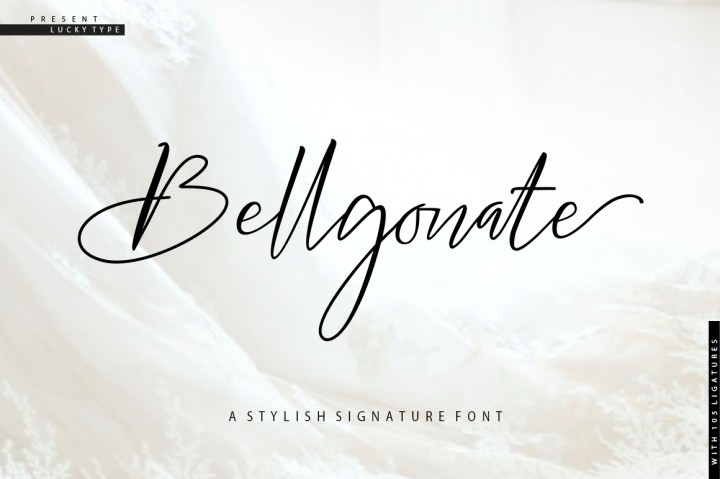 Download Bellgonate Signature Script Font Family From Lucky Type