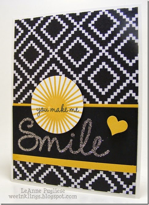LeAnne Pugliese WeeInklings So You Stampin Up Glittery Smile