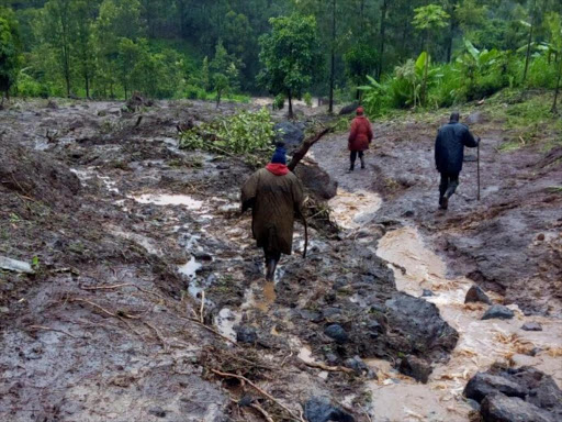 A landslide swept three farms in Gitugi, Mathioya subcounty in Murang'a county, on Saturday, April 28, 2018
