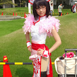 cute Japanese girl at Comiket 84 - Tokyo Big Sight in Japan in Tokyo, Tokyo, Japan