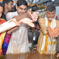 Andhra Pradesh CM At Pushkara Ghat