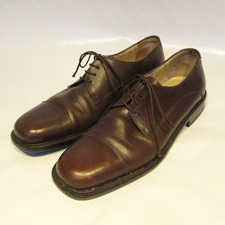 Salvatore Ferragamo Brown Leather Derbies