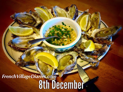 french village diaries advent calendar a to z french food christmas oysters