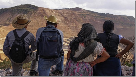 Mexican indigenous at mining project