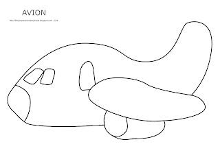Dibujo del avión para imprimir, colorear y pintar