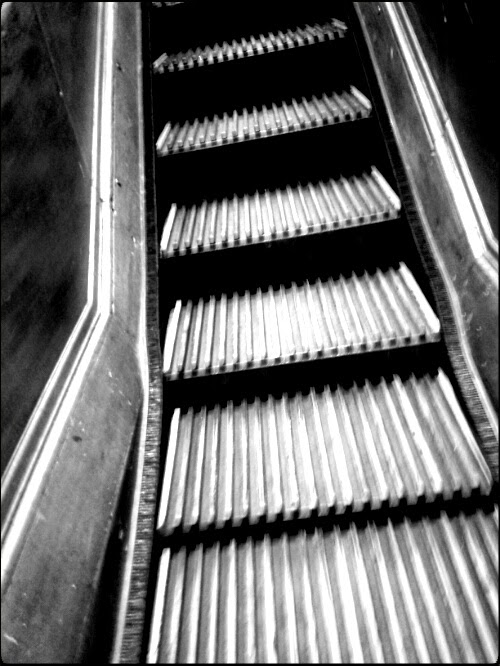 old escalator at Macy's, New York
