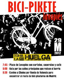 Bicipikete Lavapiés #tomalahuelga #29M