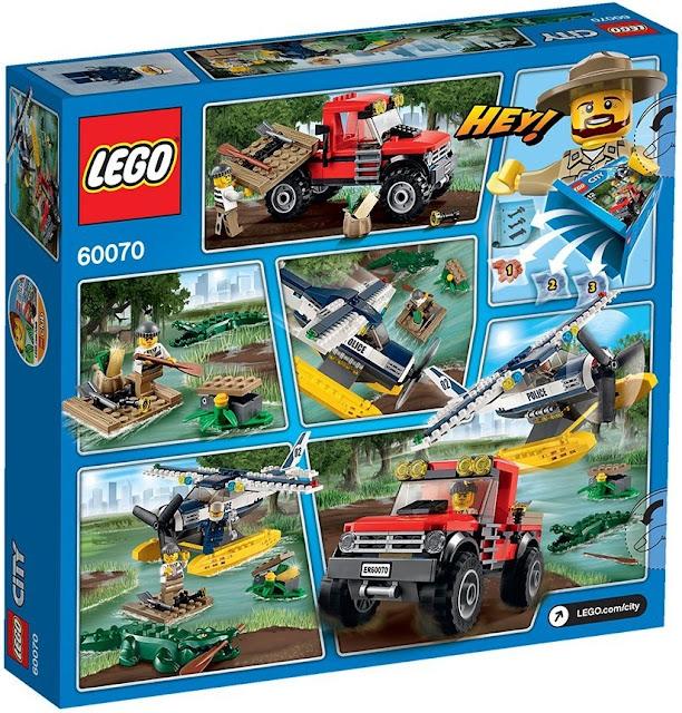 Sản phẩm Lego City 60070 Rượt Đuổi Đầm Lầy 100% chính hãng