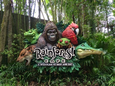 Rainforest Cafe Downtown Disney Gluten Free Menu