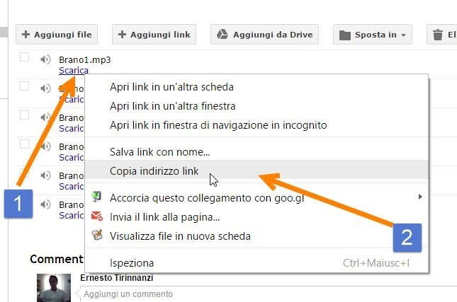 link-diretto-google-sites